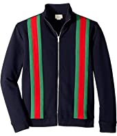 Gucci Kids - Web Detail Zip-Up Sweatshirt (Little Kids/Big Kids)