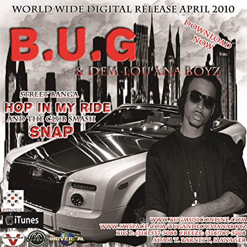 Hop In My Ride [Clean] (Acapella) by B U G  -N- Dem Lou' Ana Boyz on