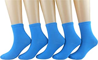 Women Colorful Candy Color Sock Casual Cotton Crew Socks 5-Pack