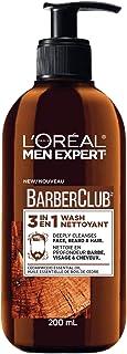L'Oreal Paris Men Expert BarberClub 3-in-1 Hair Face and Beard Wash, Mens Hair Face and Beard Shampoo, Cleanses and Condit...