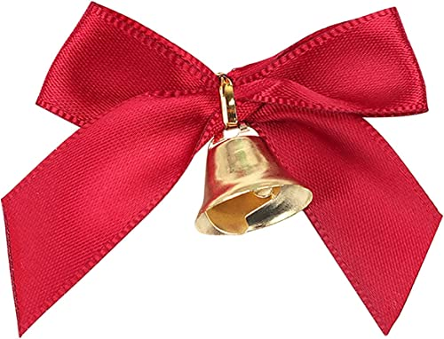 high quality RiamxwR Christmas Bell with Bow Christmas Bow Decoration with Bell Red Bow for Christmas Tree Home Decoration Bow 2021 with Bell Xmas Tree online Pendants Home Decor (20pcs) sale