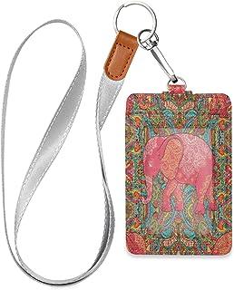 HMZXZ Porte-badge d'identification ethnique en cuir synthétique avec cordon détachable - Pour homme et femme
