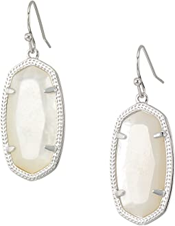Rhodium/Ivory Mother-of-Pearl
