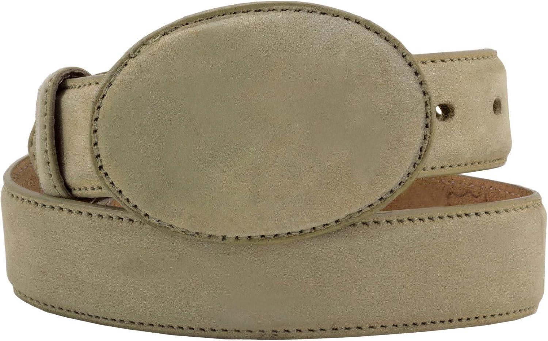 El Presidente - Kid's Toddler Cream Nubuck Leather Western Belt Round Buckle 24