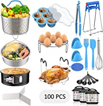 120 PCS Accessories Set for Instant Pot, Fungun Accessories Compatible with 5/6/8Qt Instant Pot, 100 Pcs Cake Baking Paper...
