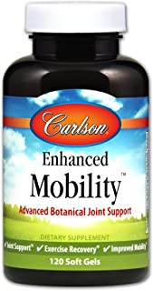 Carlson - Enhanced Mobility, Advanced Botanical Joint Support, Joint Support, Exercise Recovery & Improved Mobility, 120 Soft gels