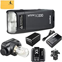 GODOX AD200 TTL 2.4G HSS 1/8000s Pocket Flash Light Double Head 200Ws with 2900mAh Lithium Battery+GODOX X1T-C TTL Wireless Transmitter Compatible for Canon EOS Series Cameras