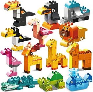 CHTOY 動物型 ブロック 世界のどうぶつ どうぶつの赤ちゃん 他社のブロック兼用 組立 知育玩具 STEM BPAフリー 子供用 クリスマス 誕生日 プレゼント (202ピース)
