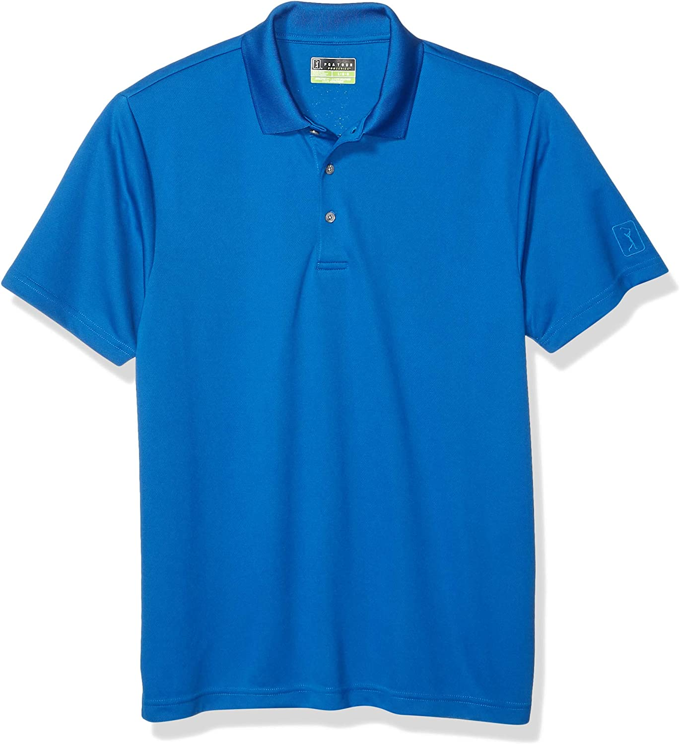 PGA TOUR Men's Airflux Polo-Shirts Award-winning store Short Solid Sleeve Super special price
