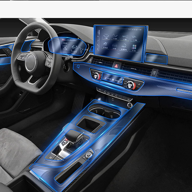 Super Max 90% OFF sale period limited CGFZNUB Car Interior Center Console Transparent TPU F Protective