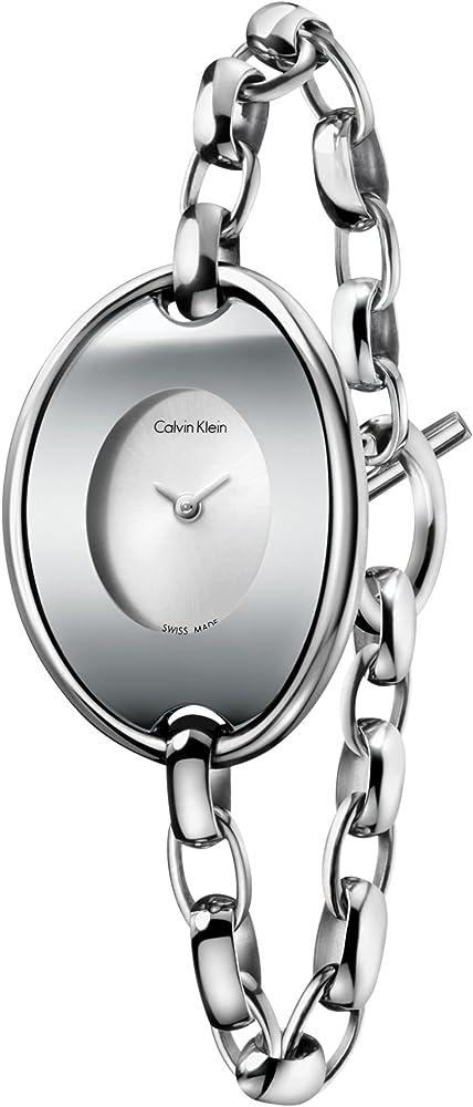 Calvin klein, orologio da donna in acciaio inox 2724488424094