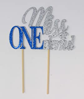 All About Details Miss ONEderful Cake Topper, 1pc, 1st Birthday Cake topper, Wonderful One Cake Topper Multi