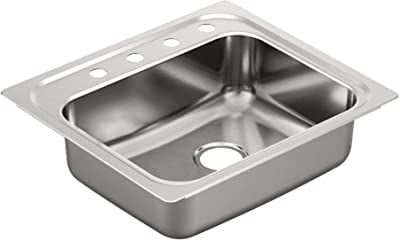 Moen G201964Q 2000 Series Sink, Brushed/Satin Stainless