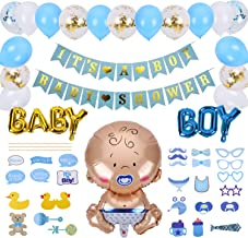 Ulikey Baby Shower Decoración, Baby Shower Globos, Decoraciones Fiesta de Bienvenida de Bebé Niño Bandera It's A Boy, Accessorios Baby Shower (Niño)