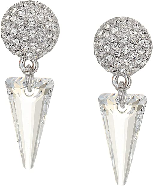 Rhodium/White Swarovski Crystal