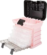 Stalwart 75-STO3183 Parts & Crafts Rack Style Tool Box with 4 Organizers, Pink