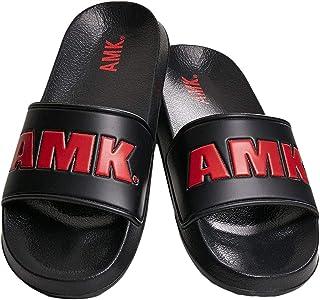 AMK Bath Slippers - Slides Black/red - 39