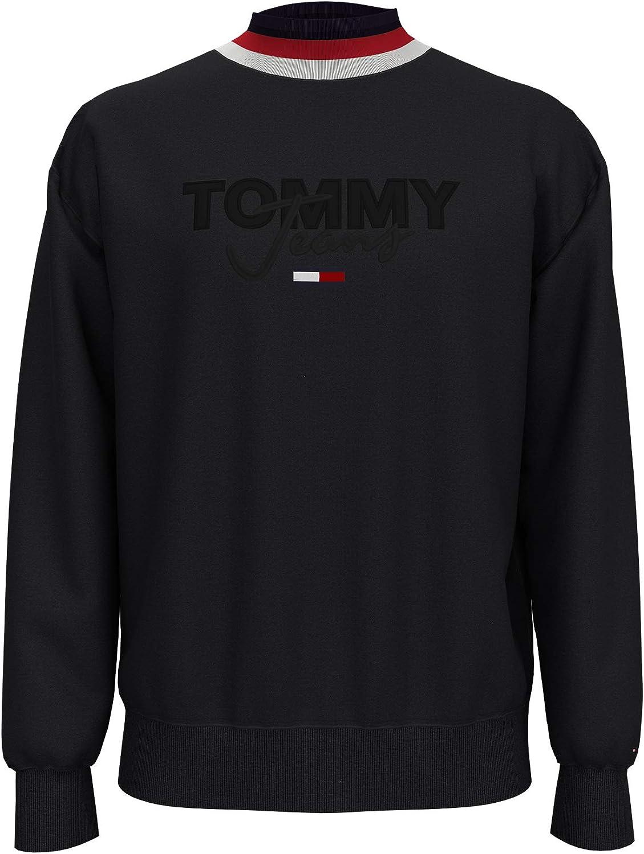 Tommy Hilfiger Men's Jeans Popular popular Mock Sweatshirt Neck Logo Cheap mail order specialty store