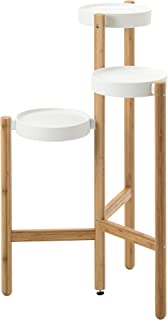 Ikea Plant stand, bamboo, white 1026.17265.2218