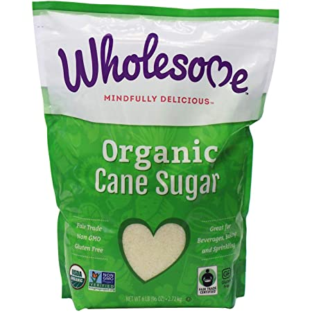 Wholesome Organic Fair Trade Cane Sugar (6lb) - PACK OF 2