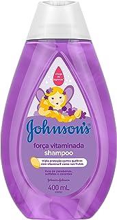 Shampoo Força Vitaminada, Johnson's Baby, Roxo, 400 ml