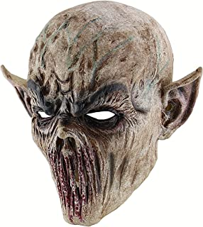 Scary Bloody Alien Demon Evil Zombie Monster Costume Latex Head Mask Creepy Horrific Halloween Cosplay Masquerade Party Props
