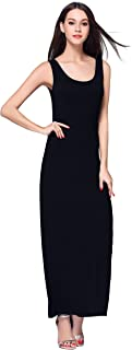 Women's Casual Sleeveless Tank Top Long Maxi Dress