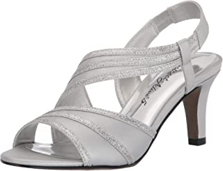 Easy Street Women Sandal,Silver Satin,7 M US