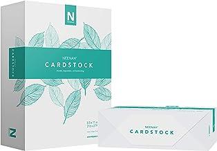 "Neenah Cardstock, Heavyweight, 600 Sheets, 110 lb/199 gsm, 94 Brightness, 8.5"" x 11"" - MORE SHEETS! (91635-01), 2-Pack"