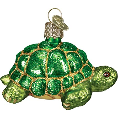 Old World Christmas Turtles Glass Blown Ornaments for Christmas Tree Tortoise