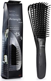 BESTOOL Detangling Brush for Black Natural Hair, Detangler Brush for Natural Black Hair Curly Hair Afro 3/4abc Texture, Faster and Easier Detangle Wet or Dry Hair with No Pain (Black)