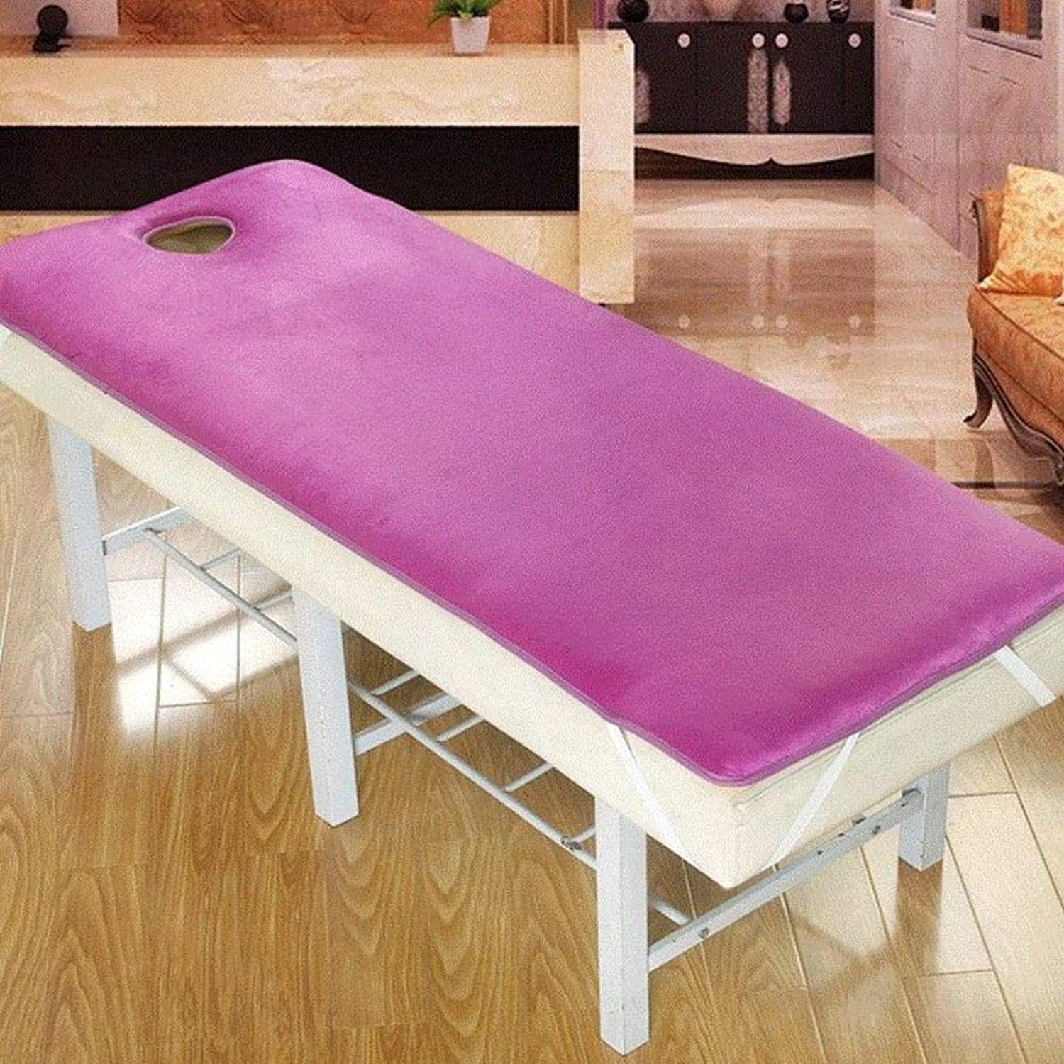 Soft Cotton pad Beauty Mattress Topper,Thick Non-Slip Mattress Elastic Massage Beauty Salon Premium Hotel Quality Tatami Mattress-Purple 180x60cm(71x24inch)