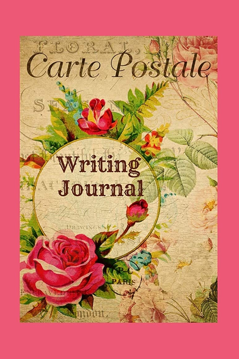 Writing Journal: Notebook For Women / Blank Lined Book For Ideas, Therapy, Stress Reduction, Creative Writing / 6X9 Inch / French Roses Postcard Design