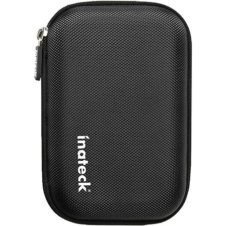 Inateck 2.5インチ ポータブルハードディスクケース 2.5型HDD保護収納ケース 本体/ケーブル用別収納タイプ【ブラック】
