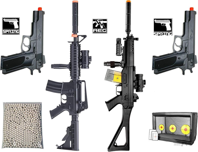 Airsoft Guns Starter Bundle Package 2 Electric Semi/Full Auto Ai