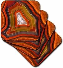 3dRose CST_85211_2 Argentina. Condor Agate Stone Pattern - SA01 BJA0045 - Jaynes Gallery - Soft Coasters, Set of 8