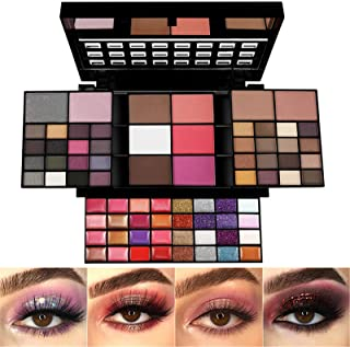 All In One Makeup Gift Kit,Professional 74 Colors Makeup Set Combination Palette for Women - 36 Eyeshadow, 28 Lip Gloss, 3...