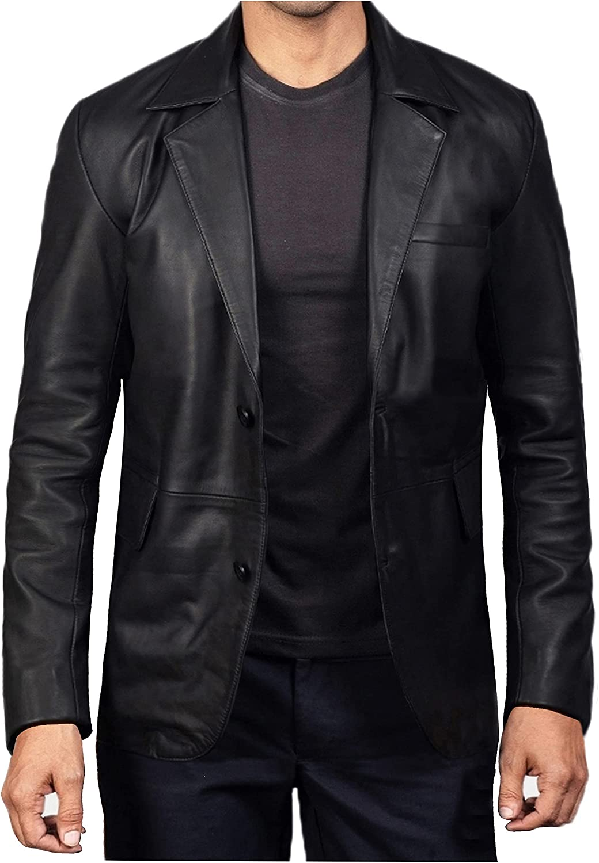 Leather Blazer for Men - Lambskin Mens Las Vegas Mall High quality new