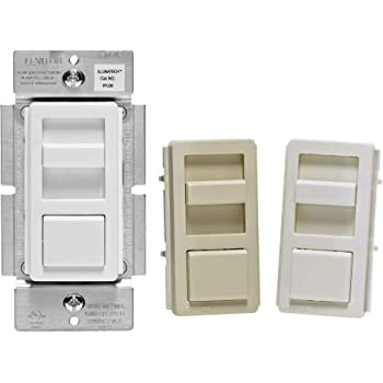 New Leviton Almond Decora LIGHTED 3-Way Preset Slide Dimmer Switch 600W 6633-PA