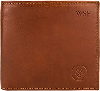 Maxwell Scott Personalized Quality Men's Billfold Leather Wallet - Vittore Tan