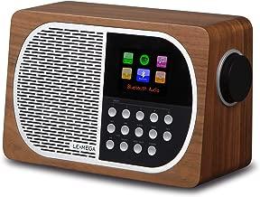 LEMEGA M2+ Smart Radio with Internet Radio, FM Radio, Bluetooth, Spotify, WiFi, Headphone-Out, USB MP3, AUX-in, Clock, Alarms, Sleep, Snooze, Colour Display & App Control (Walnut)