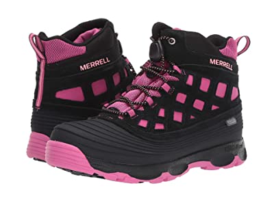 Merrell Kids Thermoshiver 2.0 Waterproof (Little Kid/Big Kid) (Black/Berry) Girls Shoes