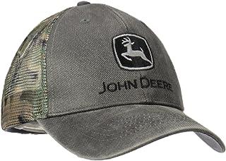 John Deere Mens 13080332CH Waxed Cotton Camo Mesh Baseball Cap