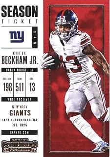 Football NFL 2017 Panini Contenders Season Ticket #81 Odell Beckham Jr. #81 NM+ NY Giants