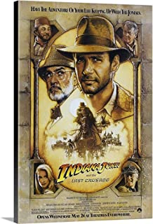 Indiana Jones and The Last Crusade - Movie Poster Canvas Wall Art Print, 12