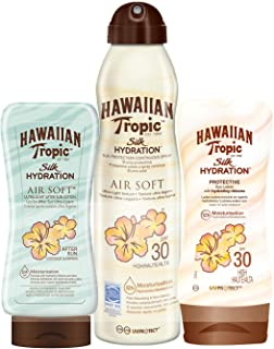 Hawaiian Tropic - Silk Pack - Crema Solar en Loción Silk Hydration SPF 30 200ml + Spray Solar en Bruma Silk Hydration Air Soft SPF 30 180ml + After Sun Silk Hydration Air Soft 180ml