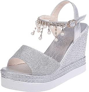 Summer Sandals Women Bead String Wedges Sandals Women Shoes Thick Bottom Platform Sandals Casual Sandale Femme