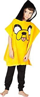 Adventure Time Boys' Jake the Dog Hooded Poncho