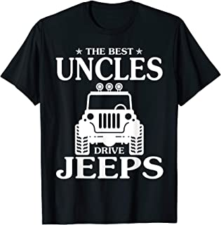 The Best Uncles Drive Jeeps Funny Jeeps Flip-FLops Offroad T-Shirt