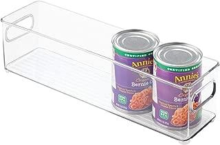 iDesign 70430 Plastic Refrigerator and Freezer Storage Bin, BPA-Free Organizer for Kitchen, Garage, Basement, Small, Clear